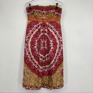 Stunning Nicole Miller Size 4 Silk Strapless Dress